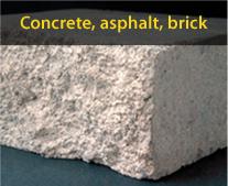 Diamond tools for concrete, asphalt and brick