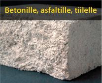Timanttityökalut betonille, asfaltille ja tiilelle
