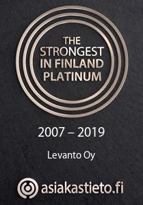 Strongest in Finland Platinum certificate Levanto