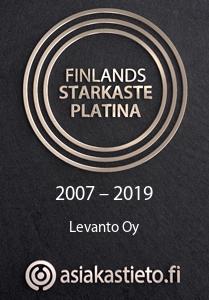 Finlands Starkaste Platina certifikat Levanto