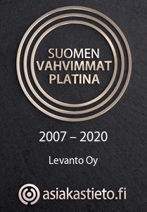 Levanto Oy Suomen Vahvimmat Platina 2020
